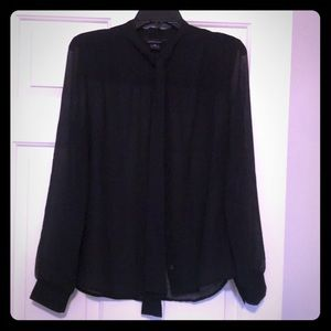 Long Sleeved Sheer Button-Up
